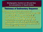 stratigraphic control on oil and gas accumulations in saudi arabia