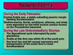 tectonic events