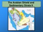 the arabian shield and sedimentary strata ii
