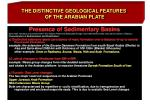 the distinctive geological features of the arabian plate