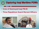 capturing iraqi maritime pows