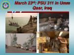 march 23 rd psu 311 in umm qasr iraq