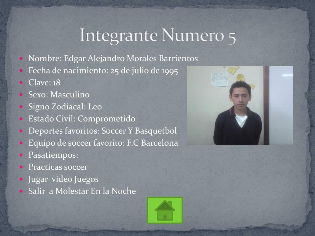 Integrante Numero 5