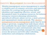 identity management access management