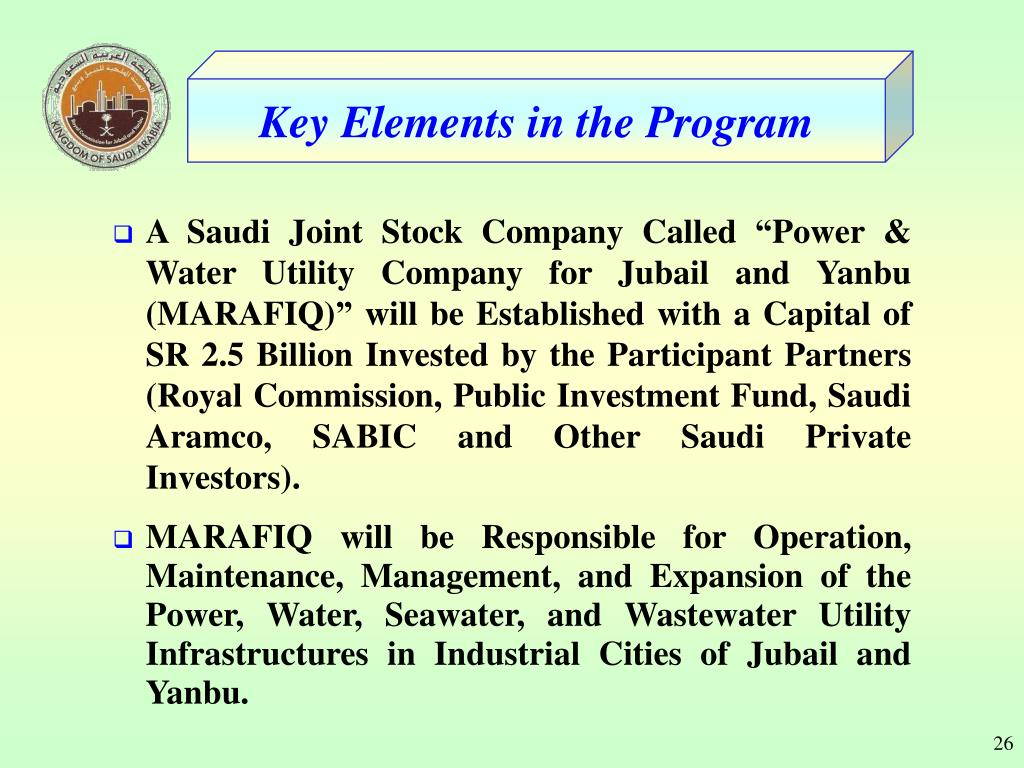 PPT - Presented at the Saudi Arabia: M ajor I nvestment O