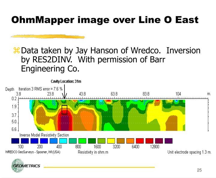 OhmMapper image over Line O East