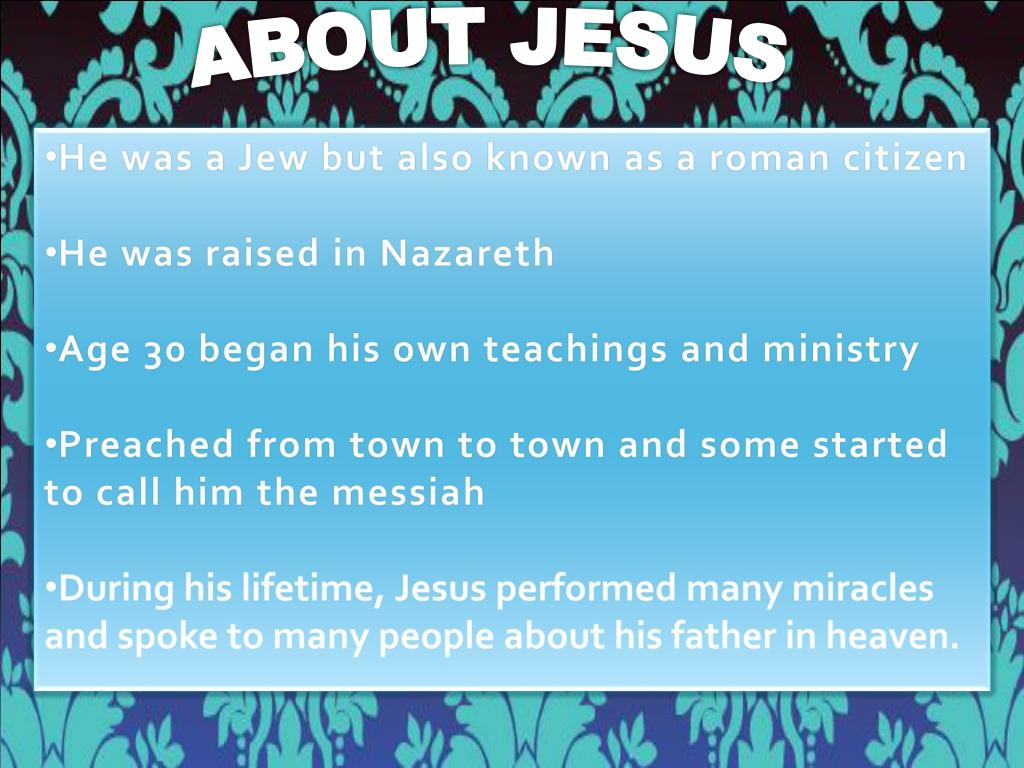 ABOUT JESUS