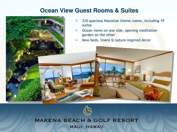 Ocean view guest rooms suites