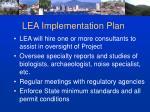 lea implementation plan