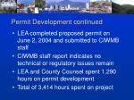 permit development continued1
