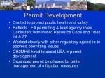 permit development