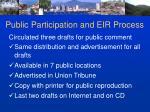public participation and eir process