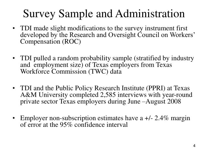 Survey Sample and Administration