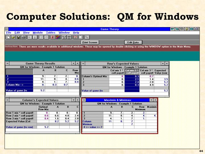 Computer Solutions:  QM for Windows