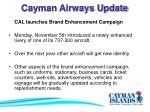 cayman airways update