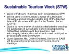 sustainable tourism week stw