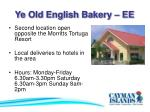 ye old english bakery ee