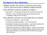 the need for bus arbitration