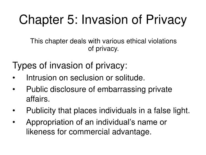 chapter 5 invasion of privacy n.