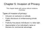chapter 5 invasion of privacy