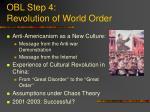 obl step 4 revolution of world order
