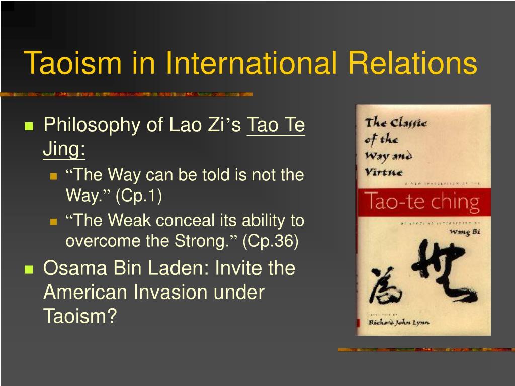 Taoism in International Relations