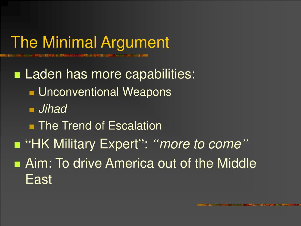 The Minimal Argument