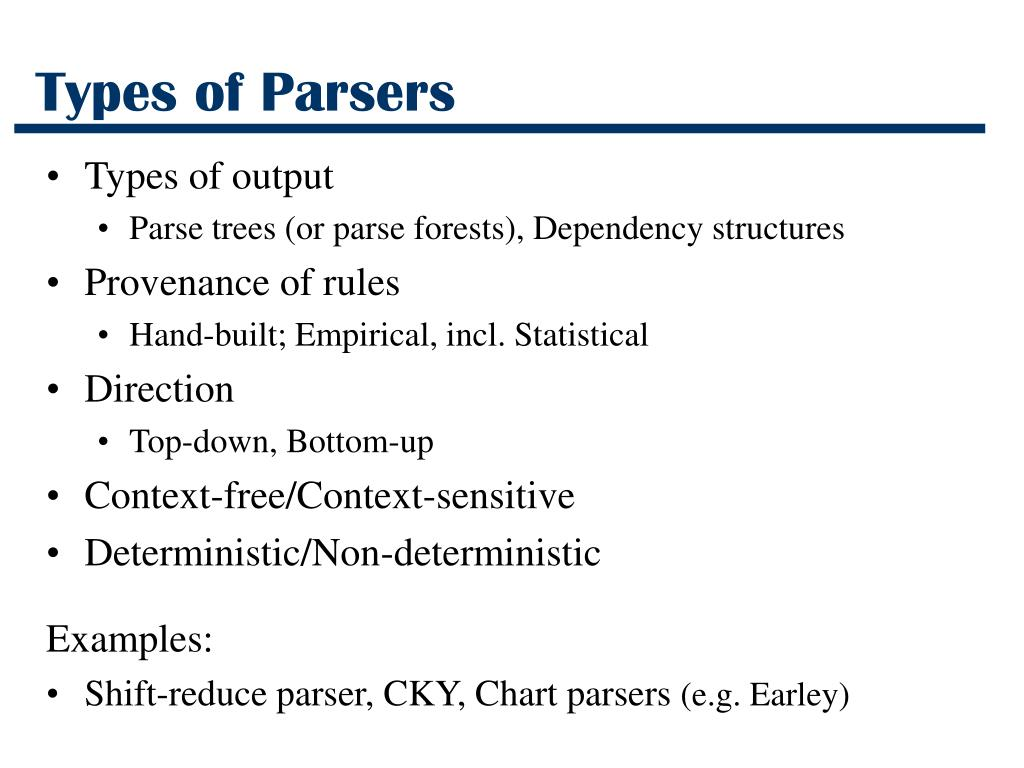 Types of Parsers