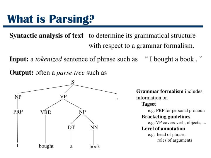 What is parsing3