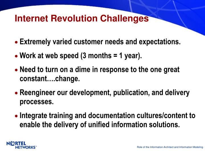 Internet Revolution Challenges