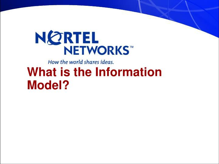 What is the Information Model?