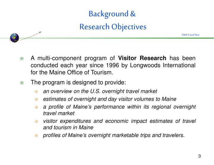 Background research objectives