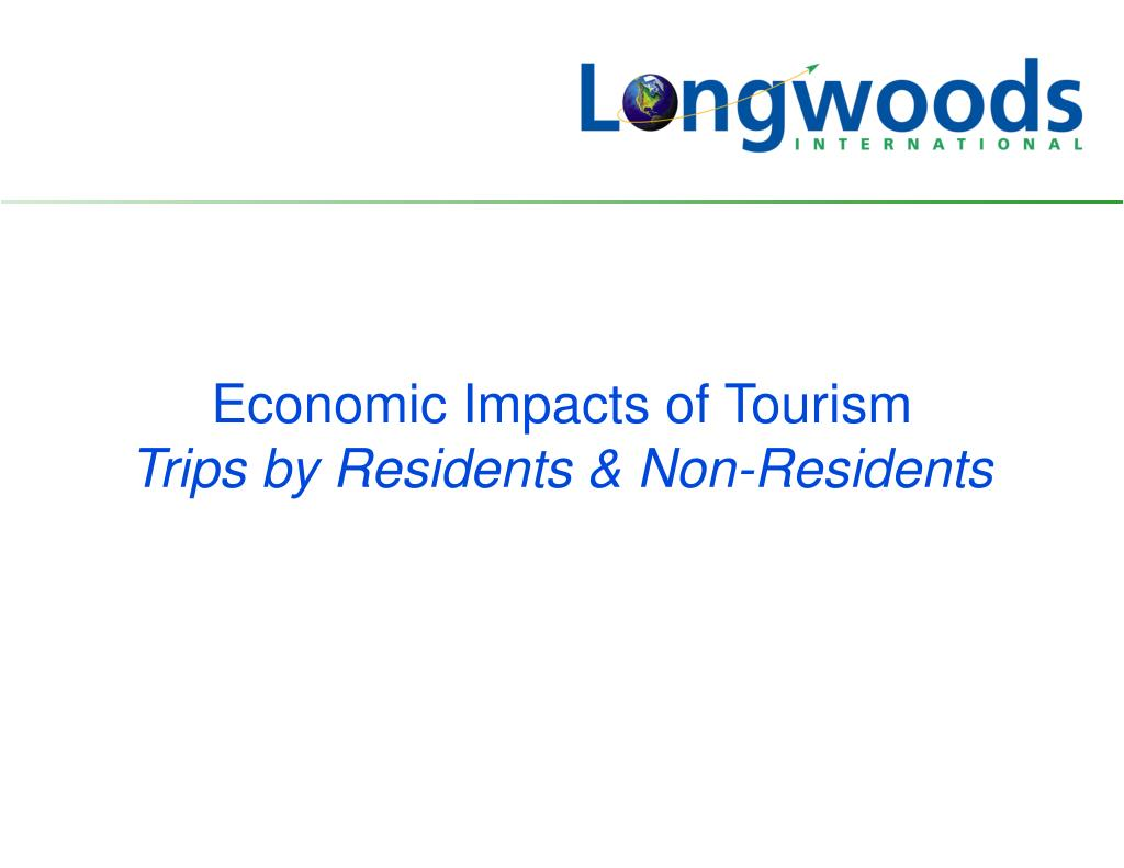 Economic Impacts of Tourism