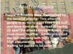 affect on america