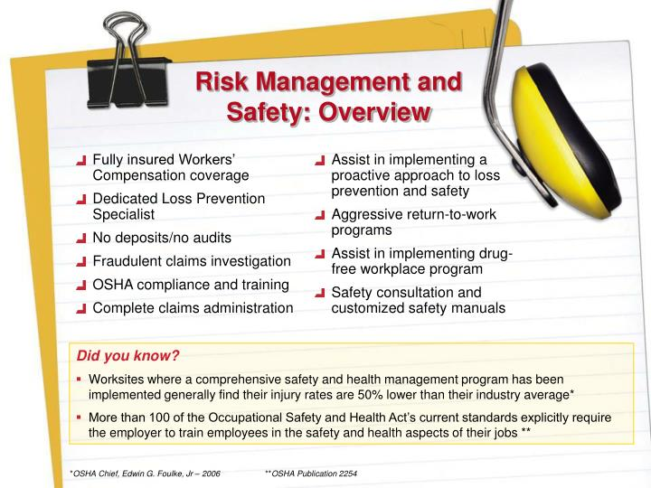 Risk Management and Safety: Overview