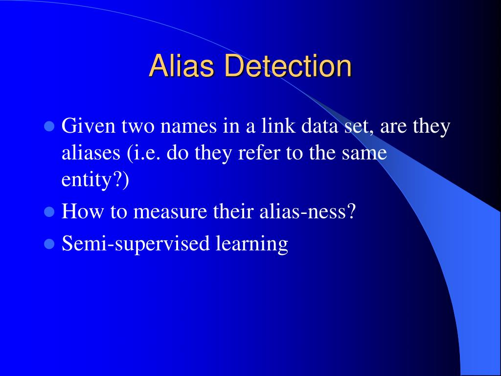 Alias Detection