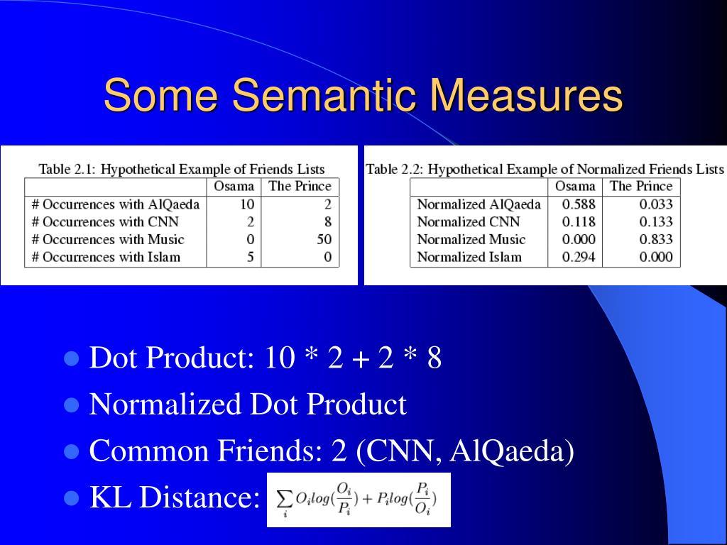 Some Semantic Measures