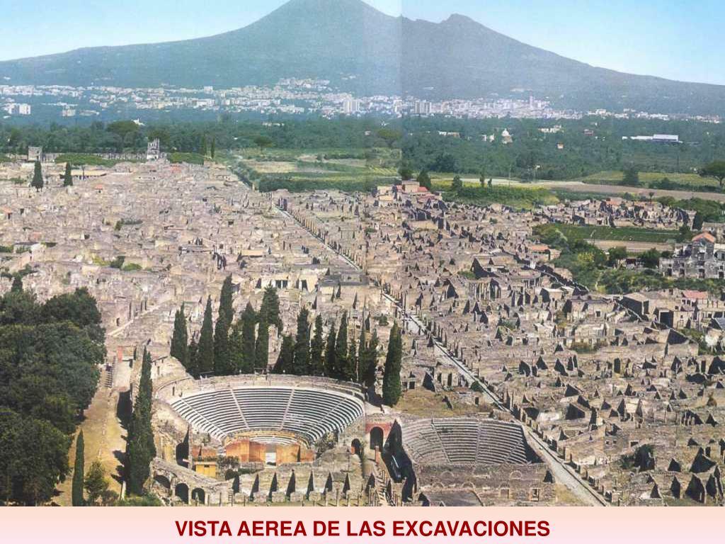 VISTA AEREA DE LAS EXCAVACIONES