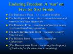 enduring freedom a war on five or six fronts
