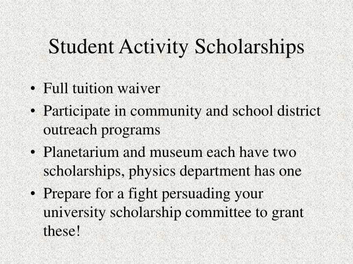 Student Activity Scholarships