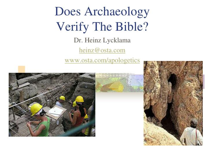 does archaeology verify the bible n.