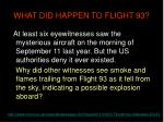 what did happen to flight 93