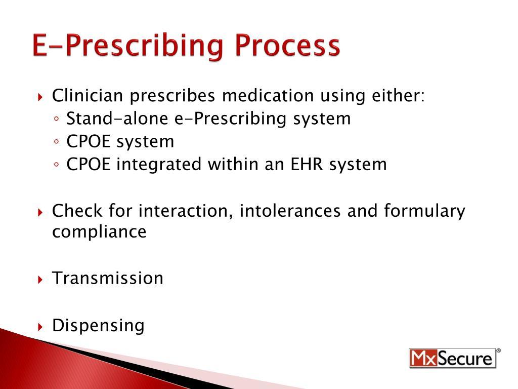 E-Prescribing Process