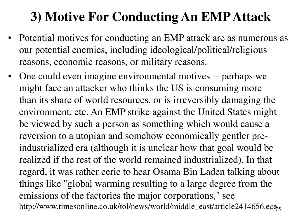 3) Motive For Conducting An EMP Attack