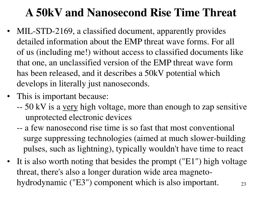 A 50kV and Nanosecond Rise Time Threat