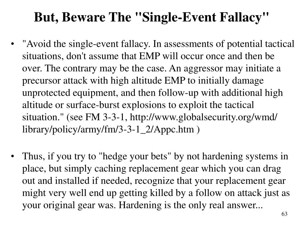 """But, Beware The """"Single-Event Fallacy"""""""