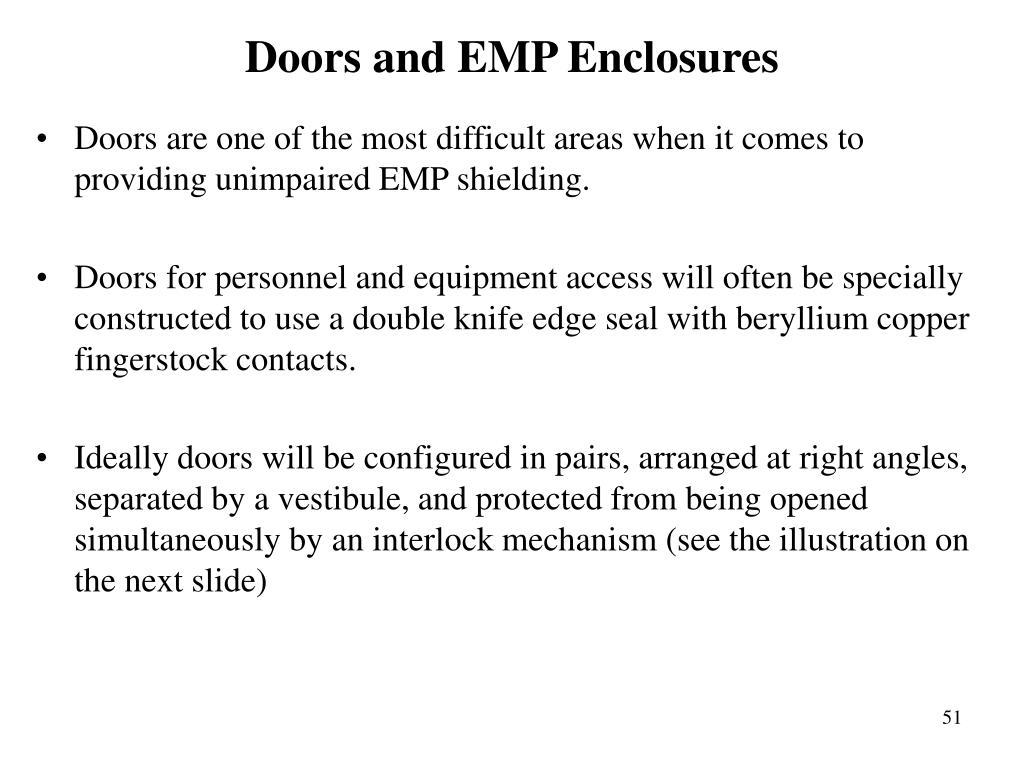 Doors and EMP Enclosures