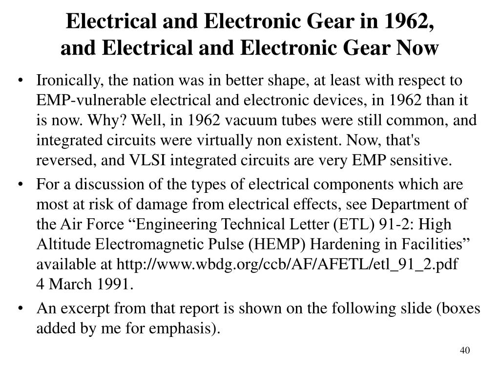 Electrical and Electronic Gear in 1962,