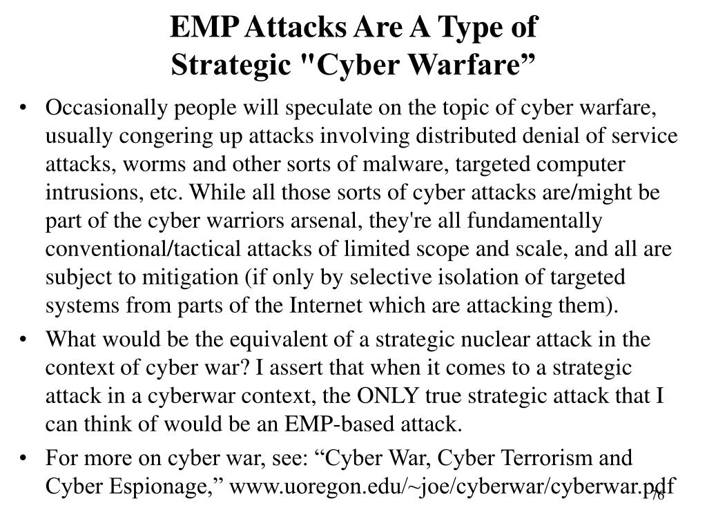 EMP Attacks Are A Type of