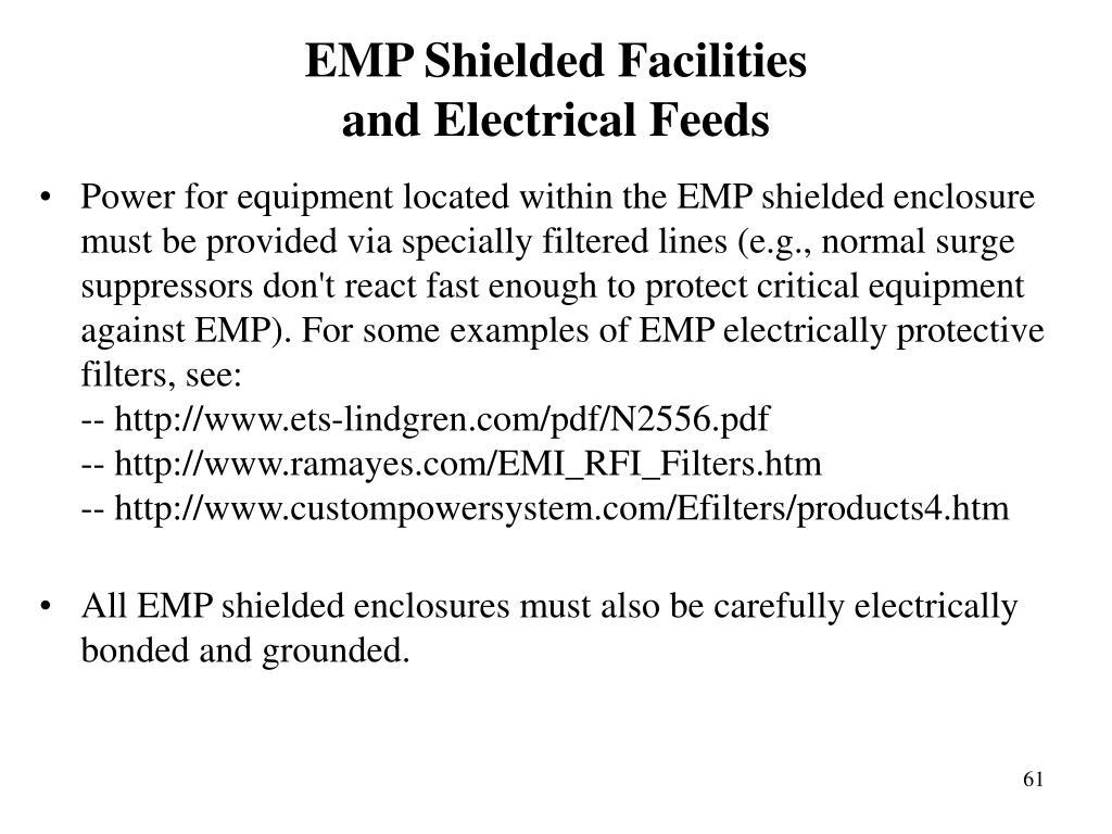 EMP Shielded Facilities